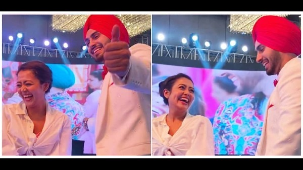 Neha Kakkar Can't Stop Blushing As She Dances Her Heart Out With Rohanpreet At Their Ring Ceremony