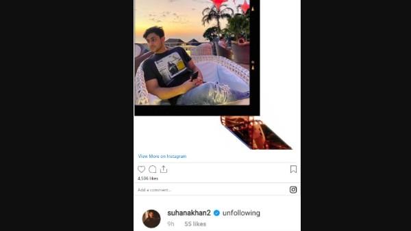 Suhana Khan Has A ROFL Reaction To Agastya's Post