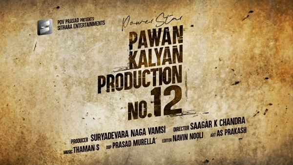 Pawan Kalyan's Next Titled Production No 12 Announced!