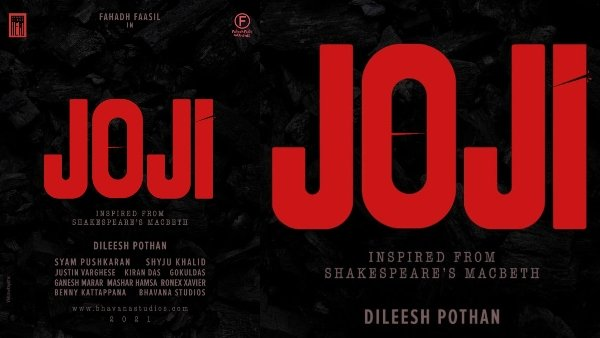 Joji: Fahadh Faasil & Dileesh Pothan To Team Up For The Adaptation Of Macbeth
