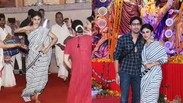 Mouni Roy At A Durga Pooja With Ayan Mukerji