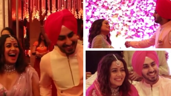 Neha & Rohanpreet Dance Their Hearts Out At Roka Ceremony