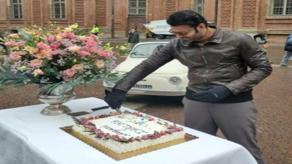Prabhas Cuts Cake On The Sets Of Radhe Shyam In Italy