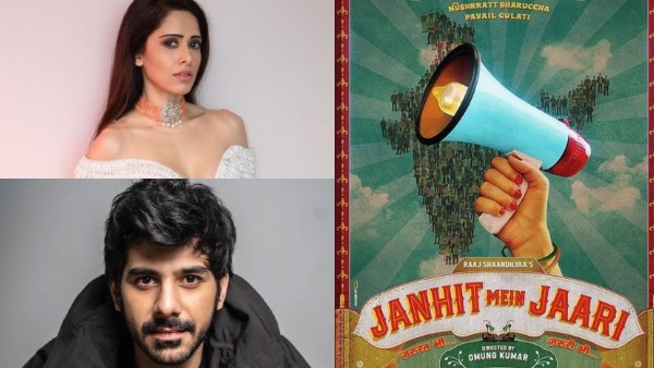 First Poster Of Nushrratt-Pavail's Janhit Mein Jaari Out