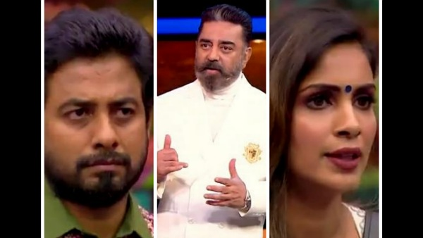 Bigg Boss Tamil 4: Kamal Haasan Asks For Season's First 'Kurumpadam' For Samyuktha-Aari Issue
