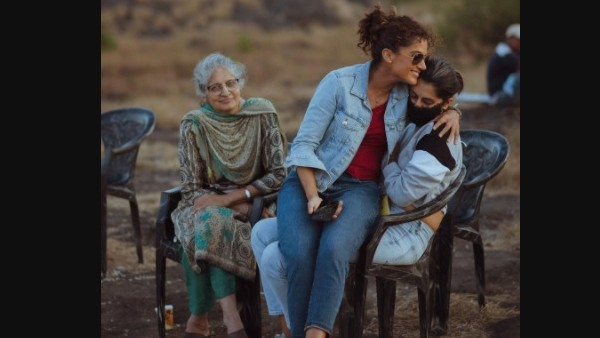 Taapsee Pannu's Mother And Sister Shagun's Surprise Visit On Rashmi Rocket Sets