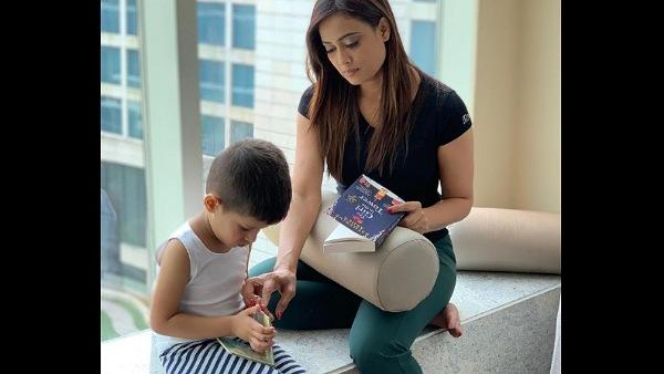 Shweta Tiwari with son Reyaansh