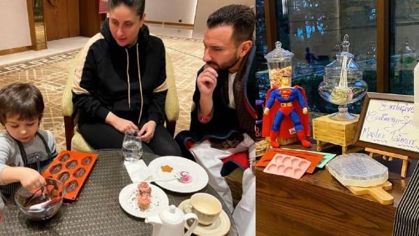 Taimur Enjoys A Culinary Session With Saif And Kareena