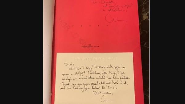 Christopher Nolan's Handwritten Note To Dimple Kapadia Is Priceless!