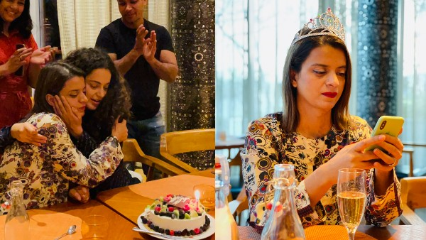 Kangana Showers Rangoli With Cakes & Hugs On Her Birthday