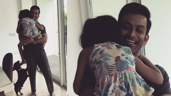 Prithviraj Sukumaran Is Back Home; Gets The Warmest Welcome From Daughter Ally & Pet Zorro
