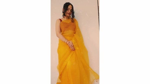 Nidhi Donned A Yellow Saree For The Haldi Ceremony