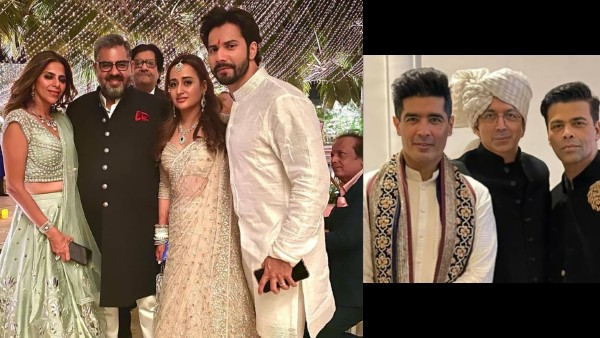 Varun Dhawan-Natasha Dalal's Wedding: The Newlyweds Pose For Pictures With Guests