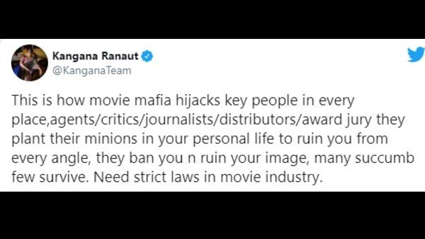 Kangana Ranaut Demands Strict Laws In Film Industry