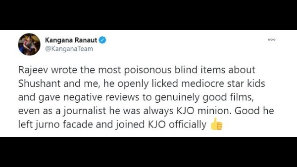 Kangana Ranaut Takes A Dig At Rajeev Masand