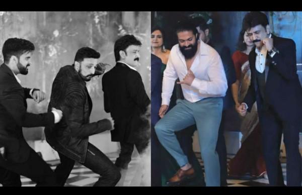 Yash & Kichcha Sudeep Set The Dance Floor On Fire At Ramesh Aravind's Daughter Niharika's Wedding Reception