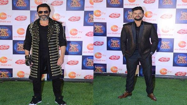 Suresh Raina and Bobby Deol