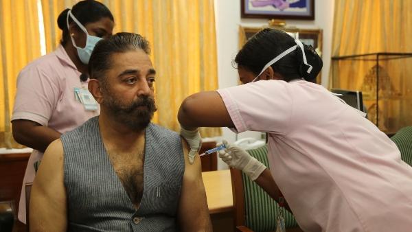 Kamal Haasan Receives COVID-19 Vaccination