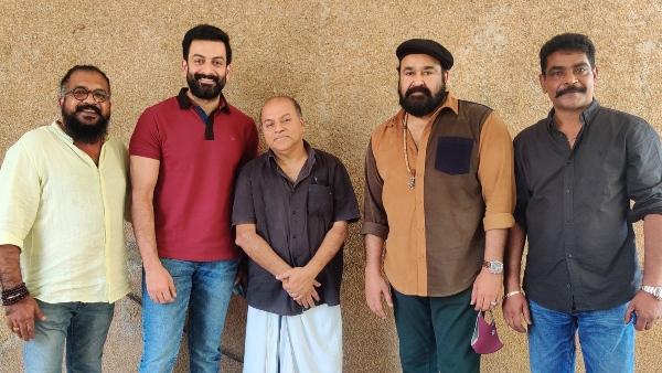 Mohanlal Kickstarts Barroz Pre-Production; Prithviraj Sukumaran Spotted With The Team!