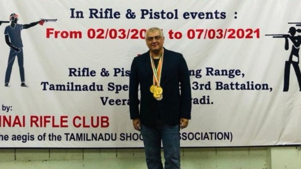 Ajith Wins 6 Medals At The TN Shooting Championship!