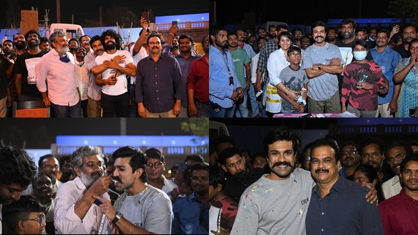RRR Team Gives Sweet Birthday Surprise To Ram Charan On The Sets Of SS Rajamouli's Film; See Pics & Video