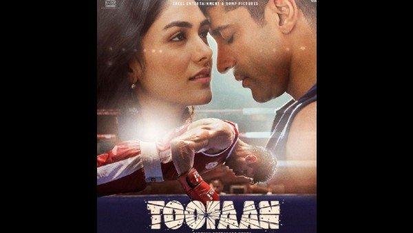 Toofaan New Poster: Farhan Akhtar And Mrunal Thakur Share A Romantic Moment