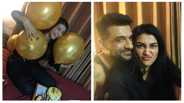 Bigg Boss 14's Eijaz Khan Surprises Pavitra Punia On Her Birthday; Couple Enjoy Intimate Celebration At Home