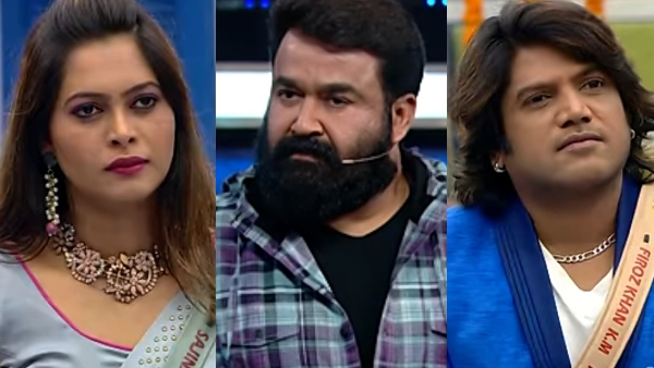 Bigg Boss Malayalam 3: Firoz Khan-Sajina Eliminated