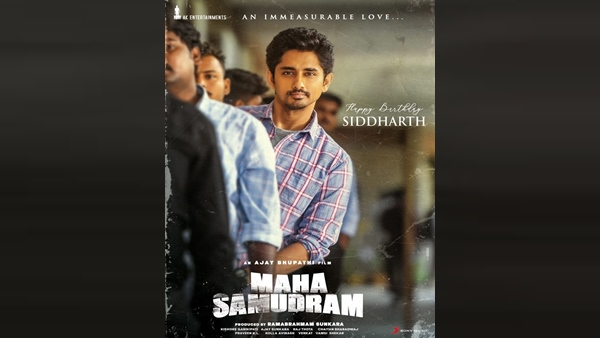 Siddharth's First Look From Maha Samudram Out On His 42nd Birthday!
