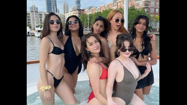 Shah Rukh Khan's Daughter Suhana Khan Raises The Temperature As She Enjoys Pool Party With Her Gals