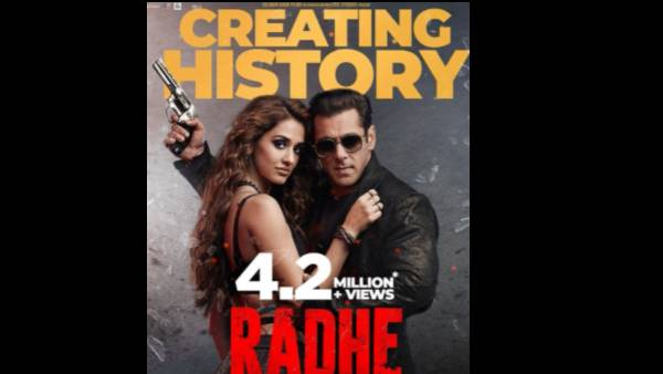 Salman Khan Starrer Radhe Creates History, Garners 4.2 Million Views On Its First Day