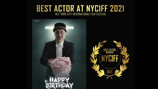 Anupam Kher Bags Best Actor Award At NYCIFF For His Short Film Happy Birthday