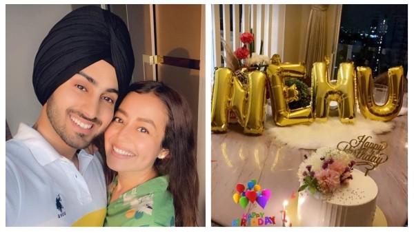 Rohanpreet Singh wishes Neha Kakkarri a romantic note on her birthday;  She shares a photo of the midnight celebration