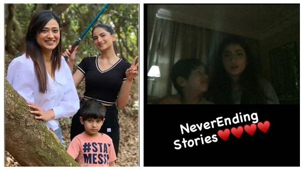 Shweta Tiwari Shares Video Call Pic With Her Kids After Abhinav Kohli Questioned His Son's Whereabouts