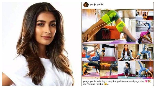 Pooja Hegde Shares A Fun Collage Of Her Poses Made By Fans, Wishes Happy Yoga Day!