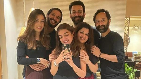 Dulquer, Prithviraj, Fahadh & Their Wives Hangout