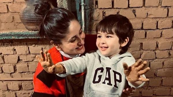 Kareena Kapoor And Taimur Have A Mid-Week Movie Night!