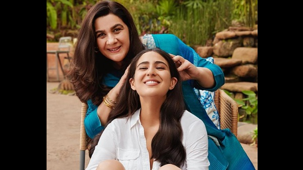 Sara Ali Khan Gets Pampered With A Hair Massage By Her Mother Amrita Singh In Her Latest Post