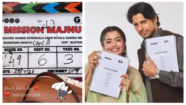Rashmika Mandanna is 'Back For A Day' for Mission Majnu