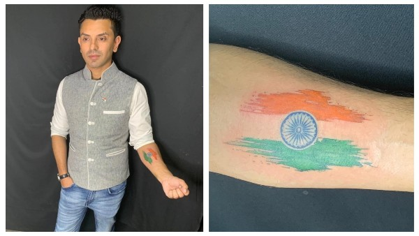 Bigg Boss 13's Tehseen Poonawalla Gets Indian Flag Tattooed On His Arm; Says 'My Tricolor Is What I Live For'