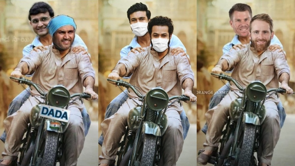 RRR's Poster Starring Ram Charan And Jr NTR Turns Out To Be A Huge Hit; Celebs Share Their Own Versions