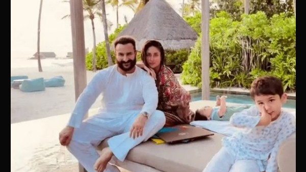 Kareena Kapoor Khan's Birthday Post For Saif Features Taimur & Jeh Chilling With Them In Maldives