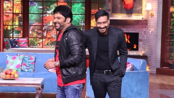 Ajay Devgn Shares Hearty Laugh With Kapil Sharma On Sets Of The Kapil Sharma Show, Comedian Shares Pics