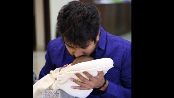 சிவகார்த்திகேயன் தனது பிறந்த குழந்தைக்கு குகன் டோஸ் என்று பெயரிட்டார்