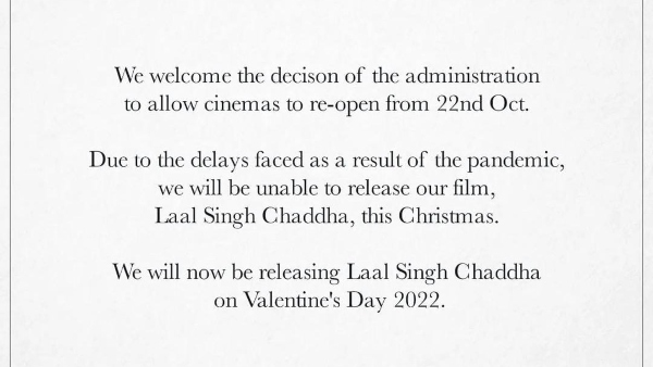 Aamir Khan To Release Laal Singh Chaddha On Valentines Day