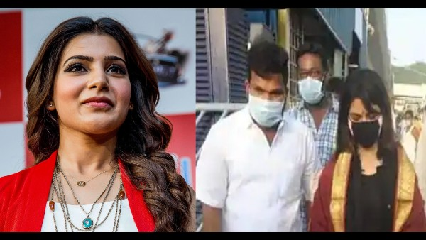 Samantha Akkineni Loses Her Cool On A Reporter For Asking About Divorce Rumours Amid Tirupati Temple Visit