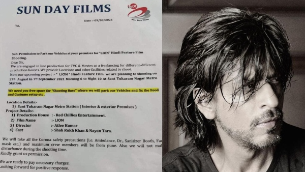 Shah Rukh Khan's Next Directed By Atlee Is Titled 'Lion', Suggests A Leaked Letter!