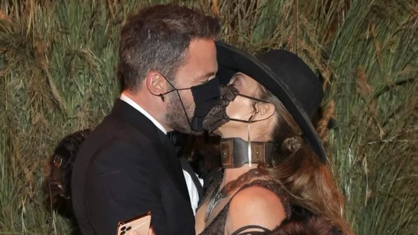 Jennifer Lopez & Ben Affleck Kiss With Masks On At The Met Gala