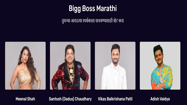 Bigg Boss Marathi 3 Voting Process: How To Vote For Meenal, Vikas, Adish & Dadus?