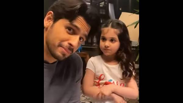 Sidharth Malhotra Recreates Shershaah's Scene With Little Kiara As Dimple, Kiara Advani Has A Cute Reaction